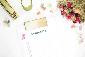 Grartitude List Printable Form