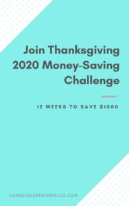 12 weeks money saving challenge