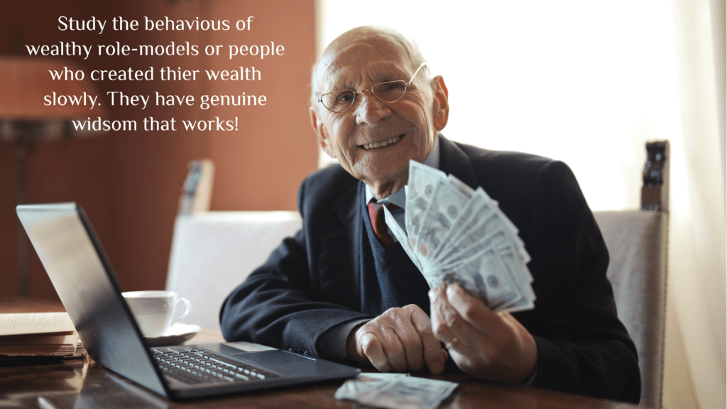 Old person with money
