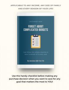 Money Saving Checklist