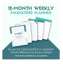 12 monthly marketing planner
