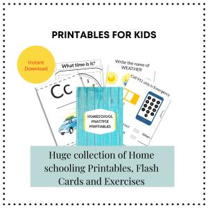Homeschool printables
