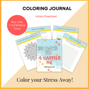 Coloring Journal 30 days to a happier me