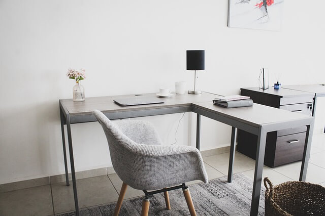 L shaped Desk Table for Home Office