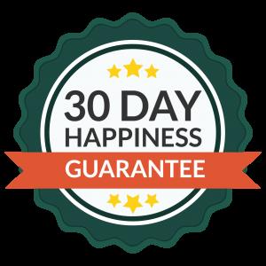 30 days Happiness Gaurantee
