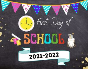 Banner for first day of school