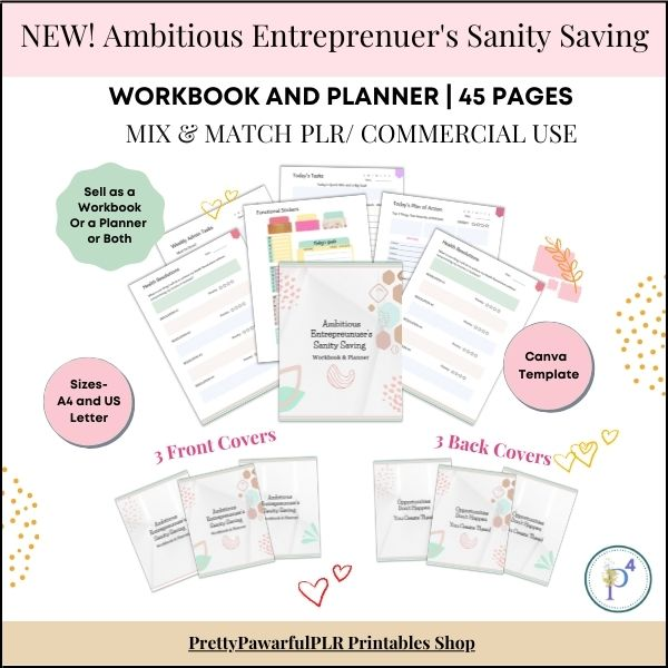 Ambitious Entreprenuer's Workbook and Planner
