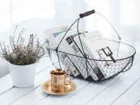Books with Tea Cup